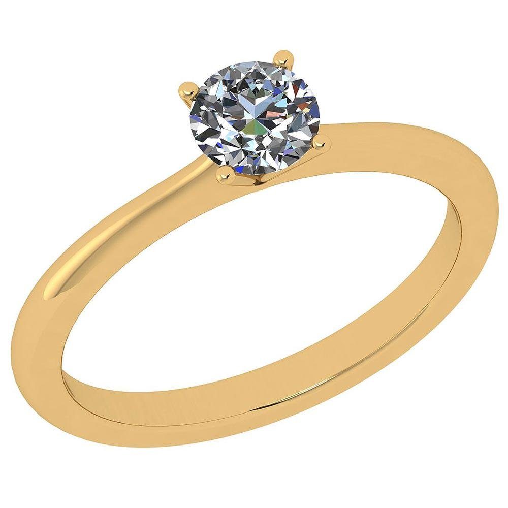 Certified Round 0.6 CTW G/I1 Diamond Solitaire Ring In
