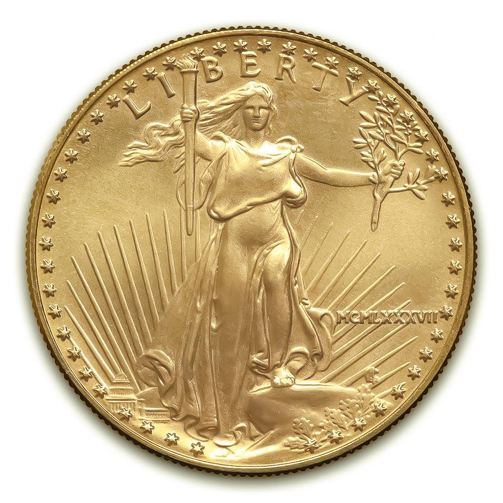 1987 American Gold Eagle 1/10 oz Uncirculated