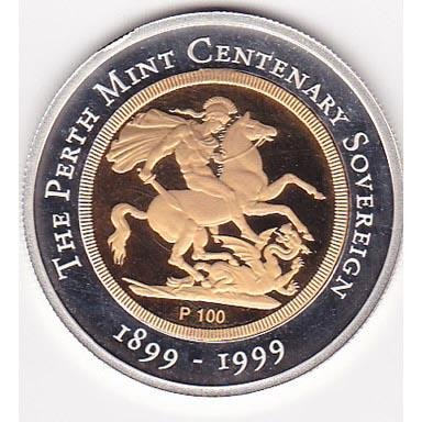 Australia $100 Gold PF 1999 Centennial Sovereign