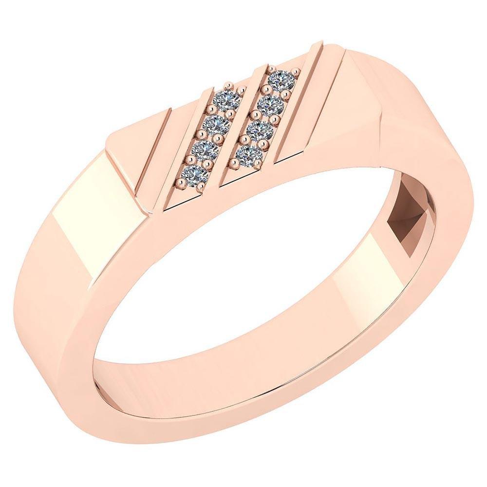 Certified 0.06 Ctw Diamond I1/I2 10K Rose Gold Annivers