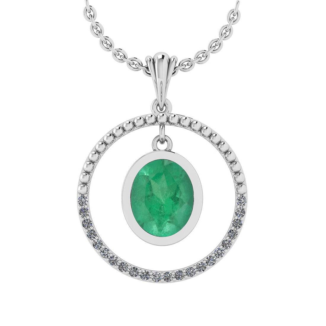 Certified 1.38 Ctw Emerald And Diamond VS/SI1 18K Gold