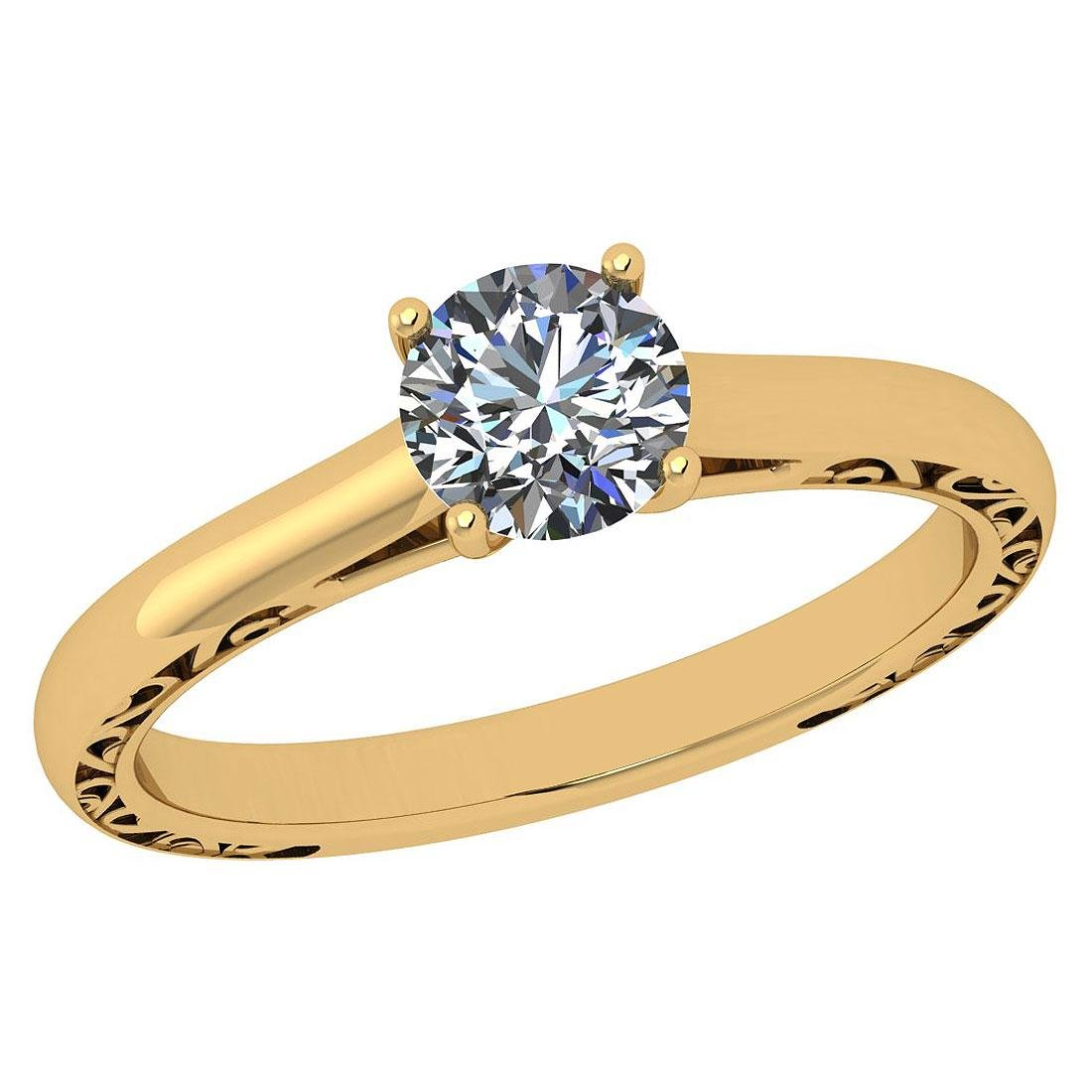 Certified Round 0.83 CTW J/VS2 Diamond Solitaire Ring I