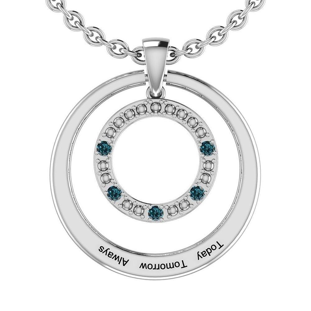 Certified 0.17 Ctw Treated Fancy Blue Diamond I1/I2 14K