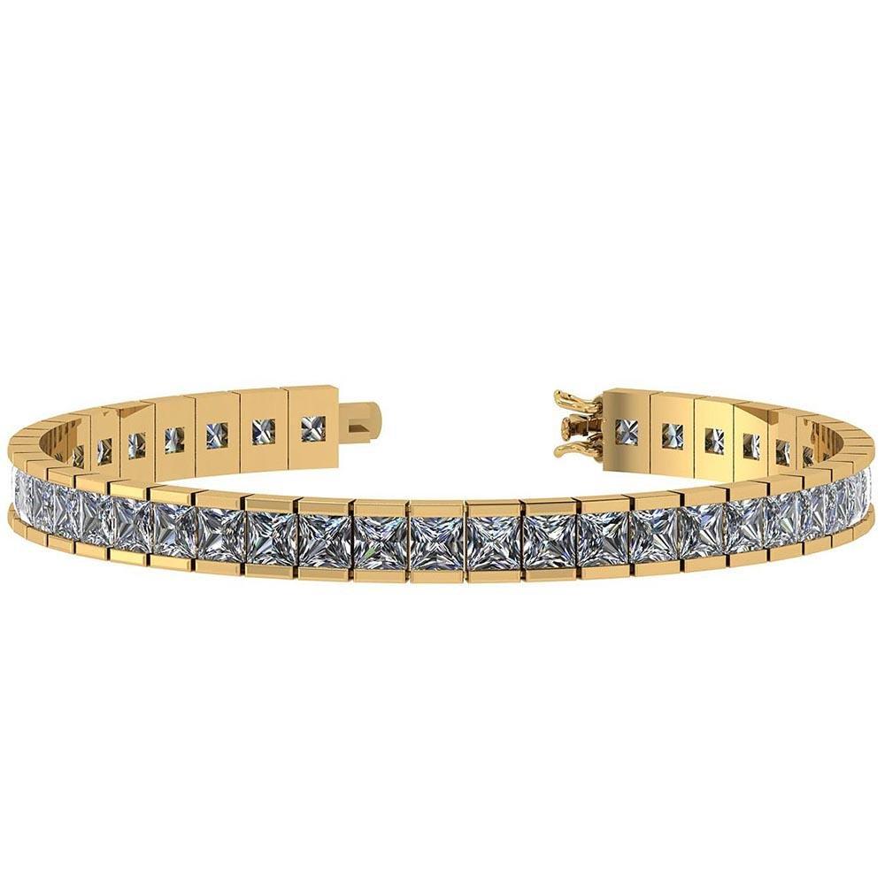 Certified 15.00 Ctw Diamond I1/I2 14K Yellow Gold Brace