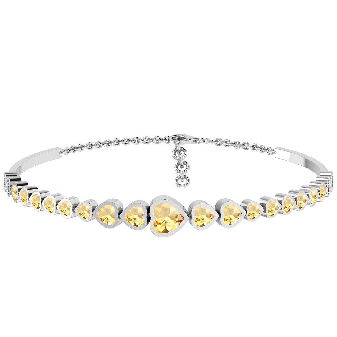 Certified 4.90 Ctw Citrine And Diamond SI1/SI2 14K Gold