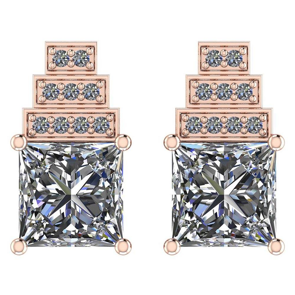 1.64 Ctw Diamond I1I2 Stud Earrings