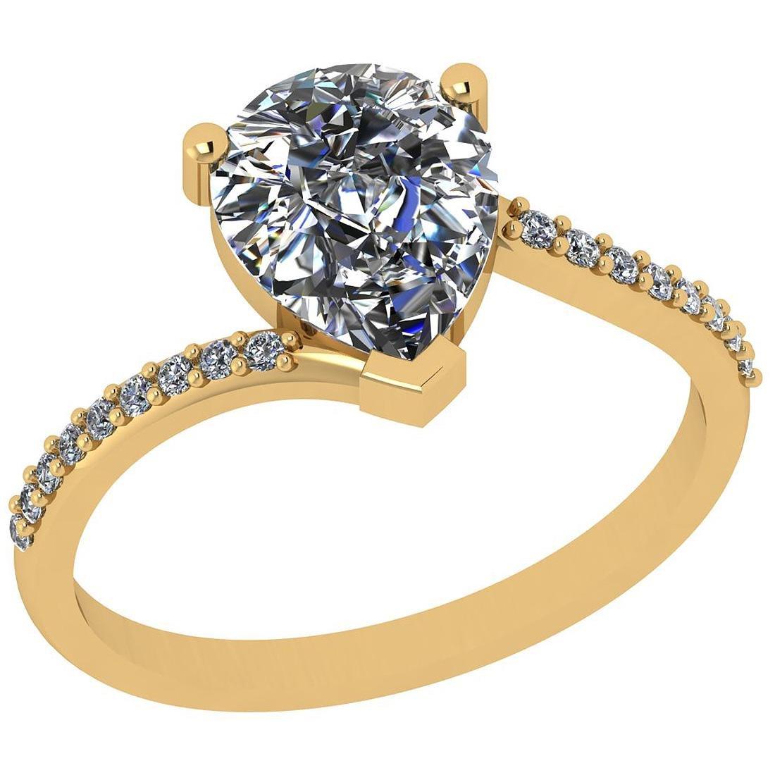 Certified 0.85 Ctw Diamond I2/I3 10k Yellow Gold Annive