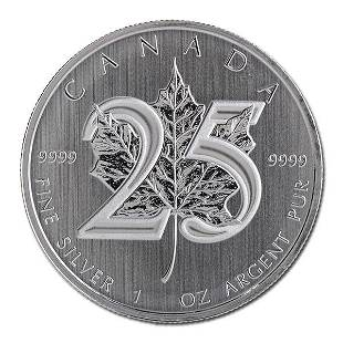 2013 Silver Maple Leaf 1 oz Uncirculated 25th Anniver