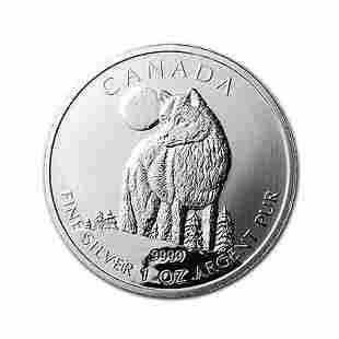 Canadian Silver 1 oz Wolf 2011