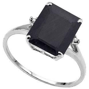 416 CTW GENUINE BLACK SAPPHIRE GENUINE DIAMOND 2 PC
