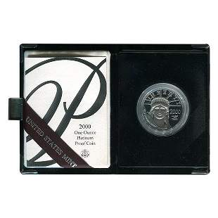 Platinum American Eagle Proof 2000 One Ounce with Box