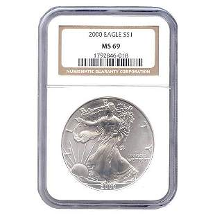 Certified Uncirculated Silver Eagle 2001 MS69