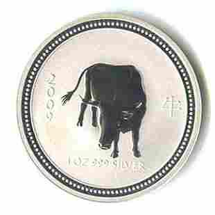 2009 Australia 1 oz Silver Lunar Ox (Series 1)