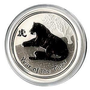 2010 Australia 1 oz Silver Lunar Tiger
