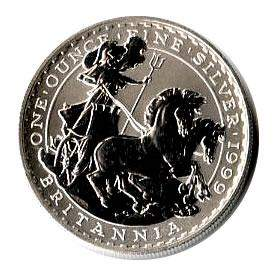 1999 1 oz Uncirculated Silver Britannia