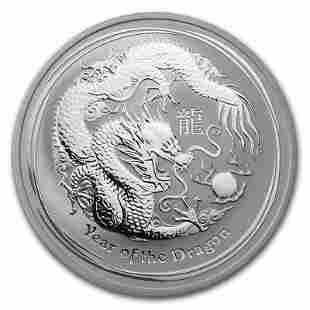 2012 Australia 1 oz Silver Lunar Dragon