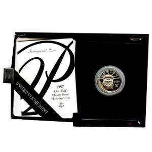 Platinum American Eagle Proof 1997 Half Ounce with Box