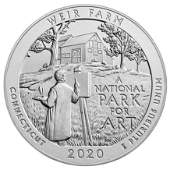 2020 Silver 5 oz Weir Farm National Historic Site ATB