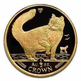 Isle of Man Gold Cat Half Ounce 1991