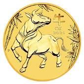 2021 Australia 1/2oz Gold Lunar OX BU (Series III)