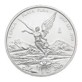 1997 1 oz Mexican Silver Libertad