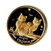Isle of Man Gold Cat 1 Ounce 2003