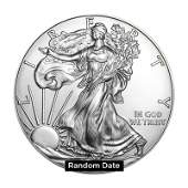Silver Eagle Roll of 20 Coins (Solid date roll)