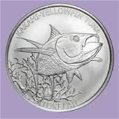 2014 Tokelau 1 oz Silver $5 Yellowfin Tuna