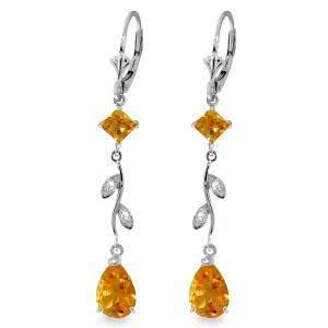 3.97 Carat 14K Solid White Gold Chandelier Earrings Dia
