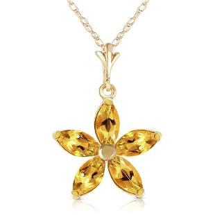 1.4 Carat 14K Solid Gold Madame Citrine Necklace