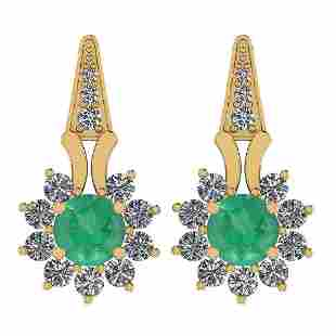 Certified 3.04 Ctw Emerald And Diamond I2/I3 10K Gold E