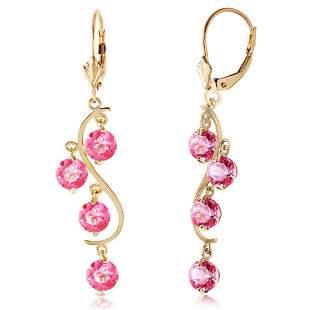 4.95 Carat 14K Solid Gold Chandelier Earrings Natural P