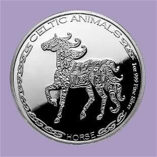 2020 Republic of Chad 1 oz Silver Celtic Animals: Horse