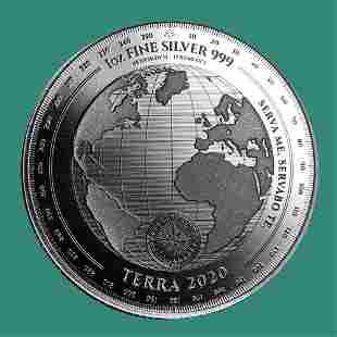 2020 Tokelau 1 oz Silver $5 Terra BU