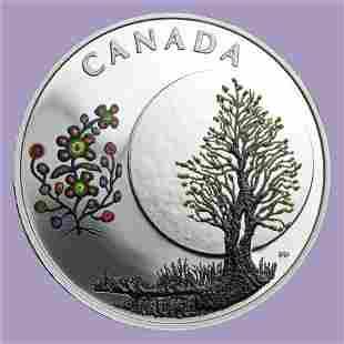 2018 Canada 1/4 oz Silver $3 The Thirteen Teachings Flo
