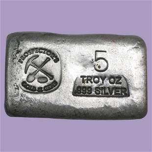 5 oz Silver Bar - Prospector's Gold & Gems