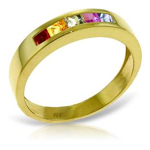 0.6 CTW 14K Solid Gold Earn A Surprise Multicolor Sapph