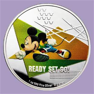 2020 Niue 1 oz Silver $2 Disney Mickey Mouse: Ready Set