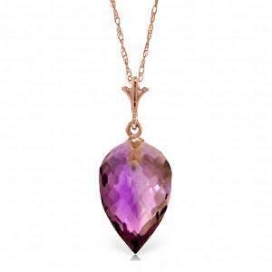 9.5 Carat 14K Solid Rose Gold Necklace Pointy Briolette