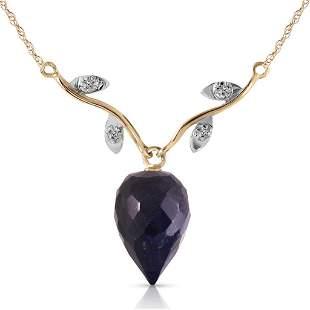 12.92 Carat 14K Solid Gold La Bella Vita Sapphire Diamo