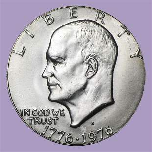 1976-D Clad Eisenhower Dollar