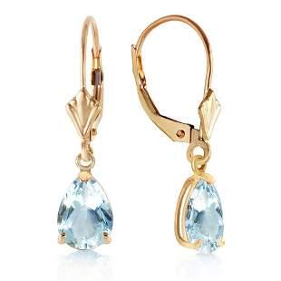 2.85 Carat 14K Solid Gold Extravaganza Aquamarine Earri