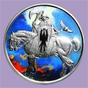 1 oz Silver Colorized Round - Frank Frazetta (Death Dea