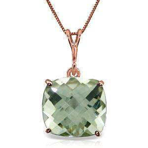 3.6 Carat 14K Solid Rose Gold Necklace Natural Checkerb