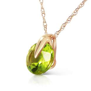 1 Carat 14K Solid Gold Wonders Of Love Peridot Necklace