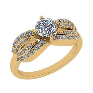 Certified 0.75 Ctw Diamond I2/I3 10k Yellow Gold Annive