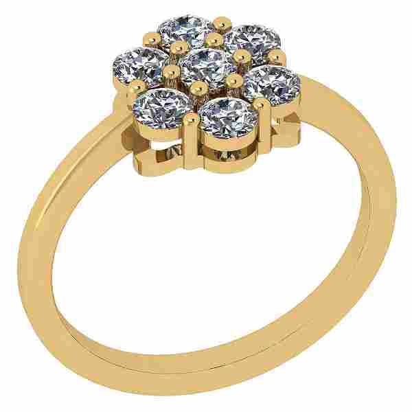 Certified 0.48 Ctw Diamond I2/I3 10k Yellow Gold Ring