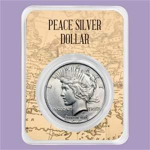 1922-1935 Peace Silver Dollar Eagle Map Card BU (Random