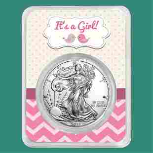 2021 1 oz Silver American Eagle - It's A Girl
