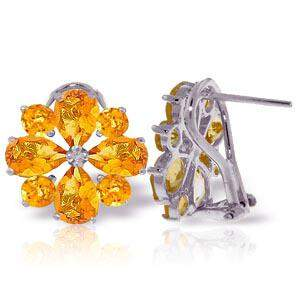 4.85 Carat 14K Solid White Gold Love Accents Citrine Ea
